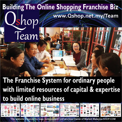 Qshop Team Build Online Shopping Franchise Biz SHOP.COM Market Malaysia Brand 4A